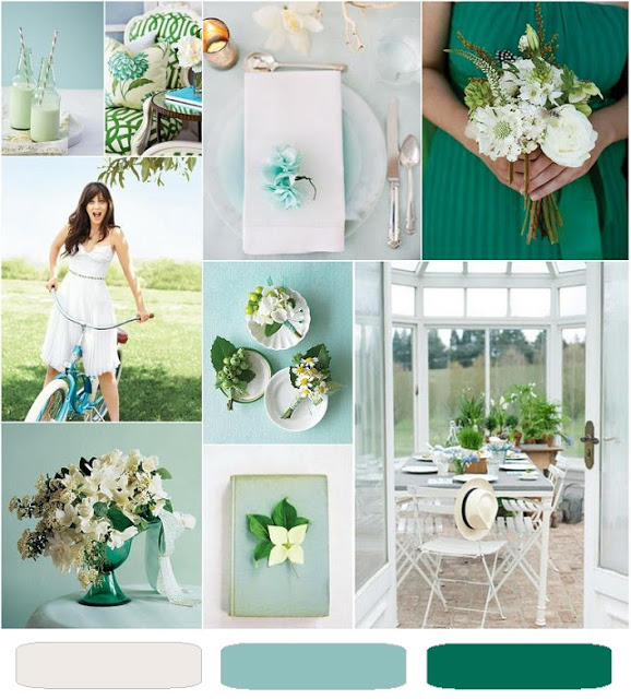 spring green wedding inspiration board a